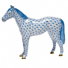 Herend Porcelain Fishnet Figurine of a Horse